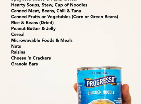 Food Drive - Helping Those In Need (Safely)