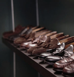Rack of shoes - tassel loafers