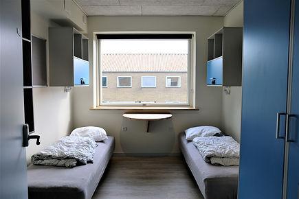 værelsesfaciliteter på Idrætshøjskolen i Sønderborg
