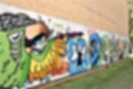 Graffitivæg på Idrætshøjskoleni Sønderbrg