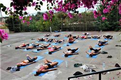 Yoga i varmen