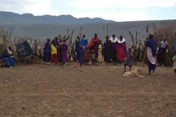 Besøg i en lokal masailandsby