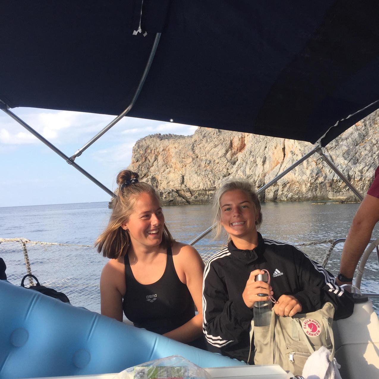 Emilie og jeg på Kreta