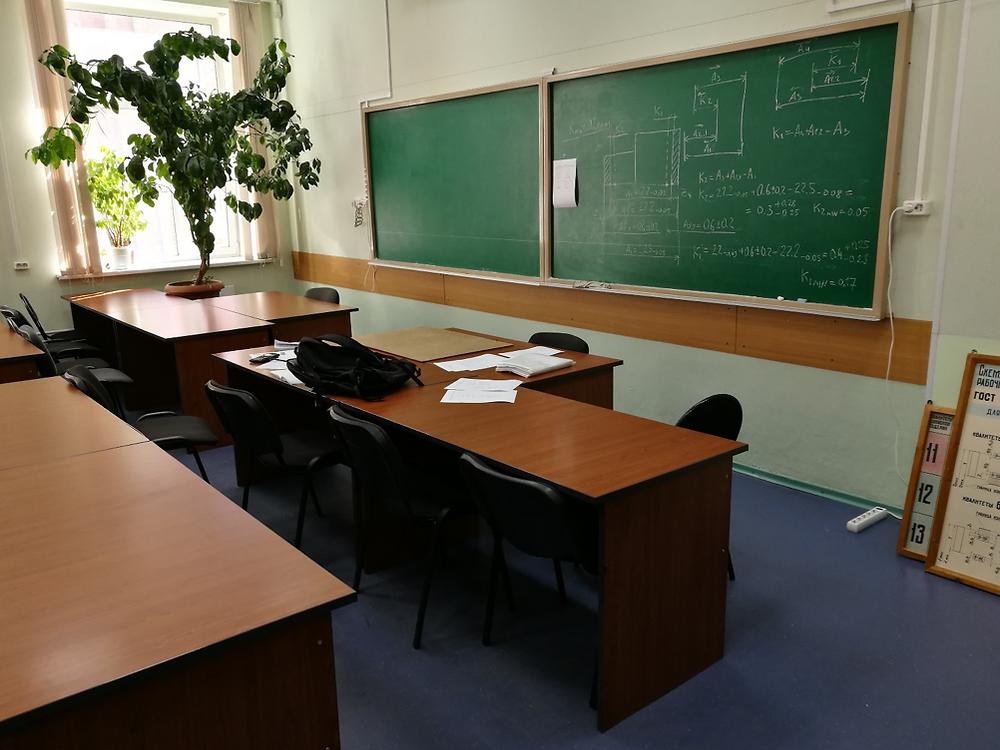 Et af de klasselokaler, hvor Lasse ofte fik eneundervisning.
