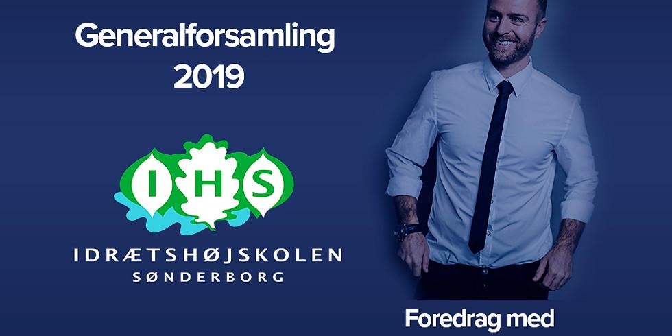 Generalforsamling 2019 på Idrætshøjskolen Sønderborg
