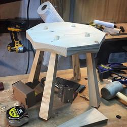 First stool stands up! #anarchistsdesignbook #lostartpress #woodworking #diy #madeinmassachusetts #h