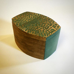 tiny carved & painted box