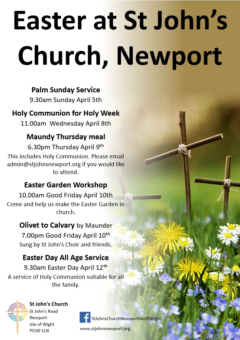 Easter Services at St John's