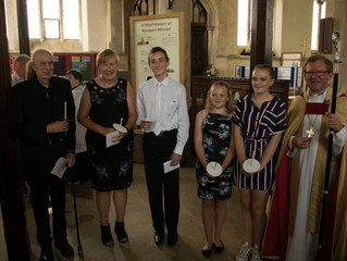 Confirmation in Newport Minster 14.7.18