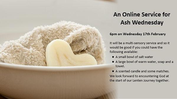 Ash Wednesday service 16.2.21