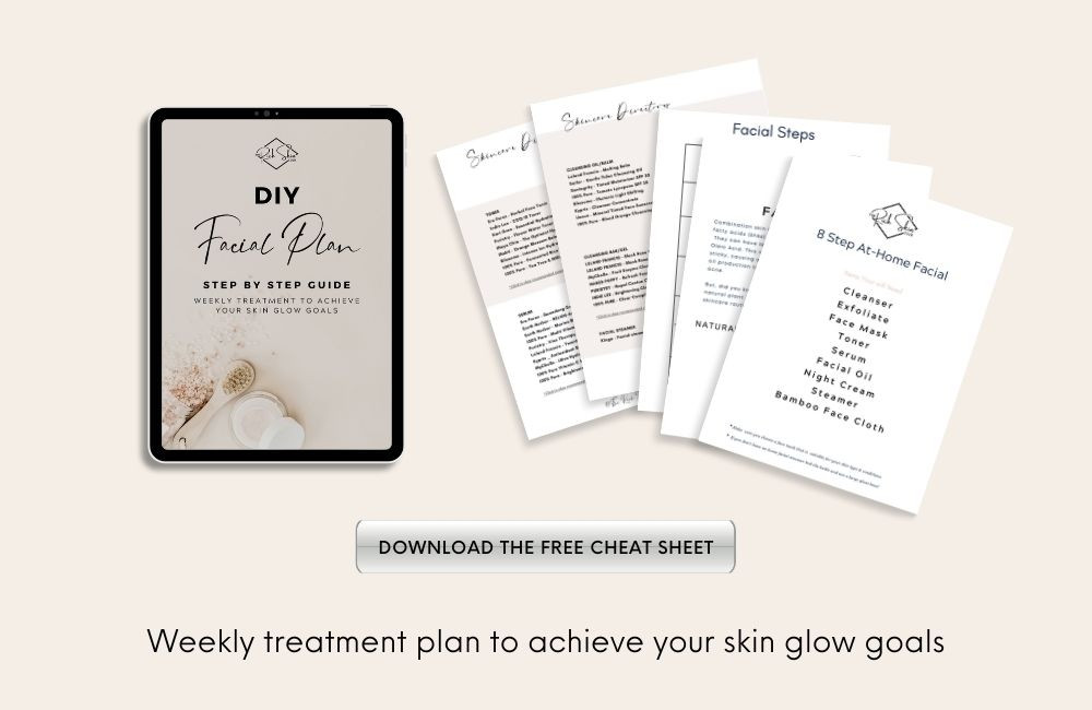 Treat Your Skin To A Professional At-Home Facial. A weekly facial is a MUST for your anti-aging skincare regime. Get my pro steps for a DIY facial that will deep steam clean your pores, and leaving your skin hydrated and glowing! Click the pin for an easy 8 step at-home facial that includes cleansers, toners, moisturisers, serums and face masks for every skin type. Download the free CHEAT SHEET so you don't miss a step! #diyfacial#glowingskin#homefacial