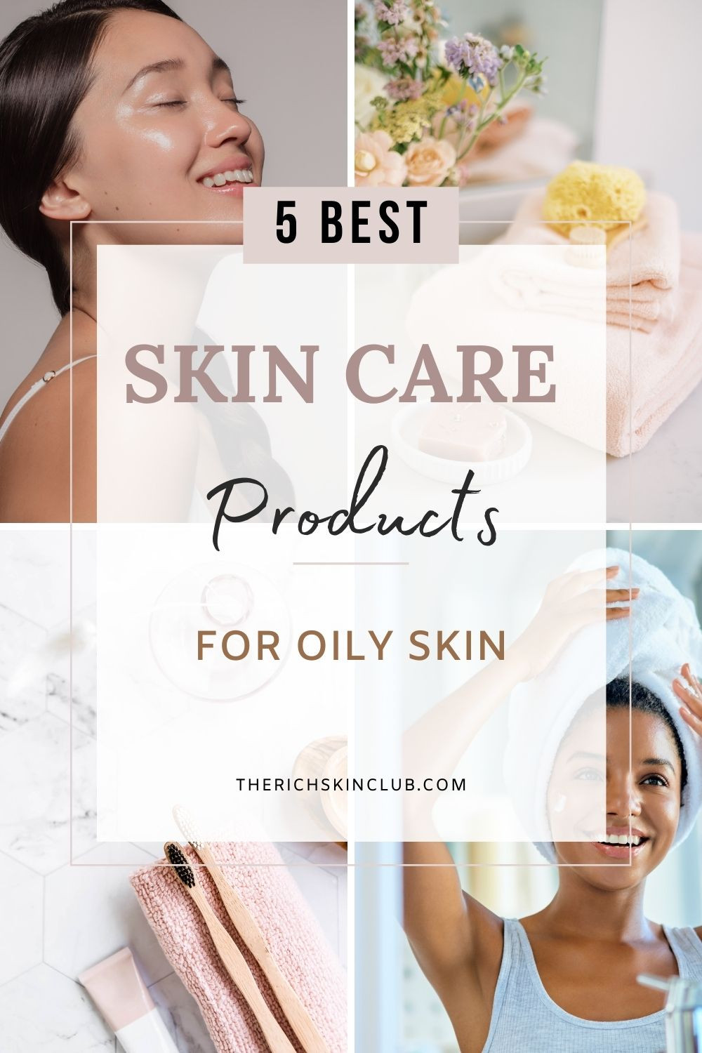 How To Choose The Right Skincare Ingredients For Oily And Acne-Prone Skin. Choosing the right skincare for oily and acne-prone skin types can be very difficult. Get my top clean beauty picks to add to your routine #oilyskinroutine #remediesfor oily face #skincareoily
