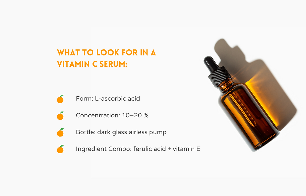 Is your skin in need of a boost? Vitamin C Serum brightens the skin by fading dark spots and scars, reduces wrinkles by boosting collagen production AND protects your skin from  UV damage! Vitamin C is an anti-aging workhorse that can enhance, repair, and protect your skin. I'm breaking down what it is, how to use it, what to look for when buying it and giving you 28 Clean Beauty recommendations. #VitaminCBenefits #VitaminCForOilySkin #AntiAgingVitaminCSerum #AntiToxicAntiAging
