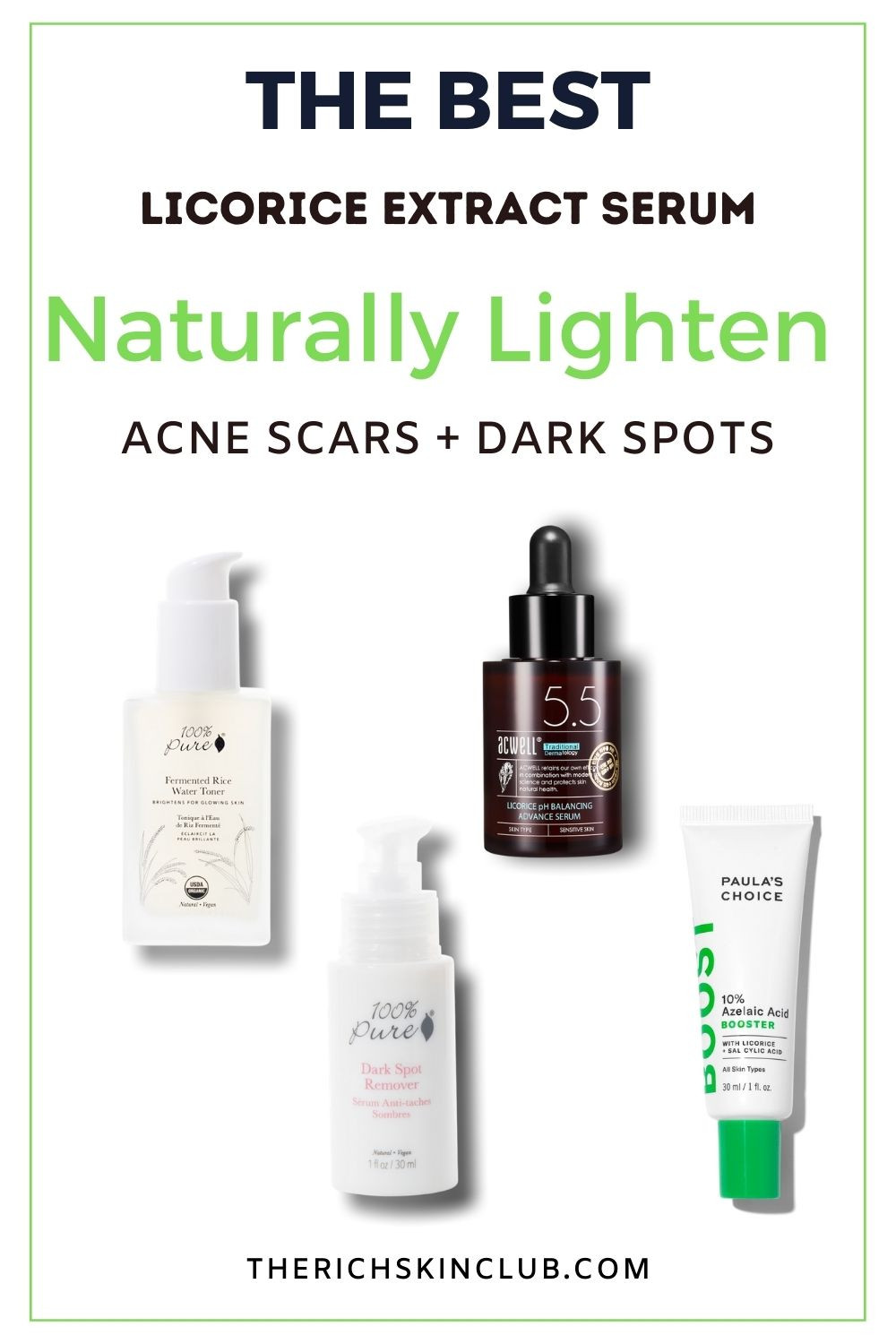 Liquorice Root Extract is An All Natural Alternative to Hydroquinone for Brightening The Skin Tone. This amazing natural ingredient is proven to balance oily skin, reduce inflammation and prevent dark marks and hyperpigmentation forming after sun exposure. Best Licorice Root Serums #licoricerootbenefitsforskin #licoriceextractserum #howtolightendarkmarks