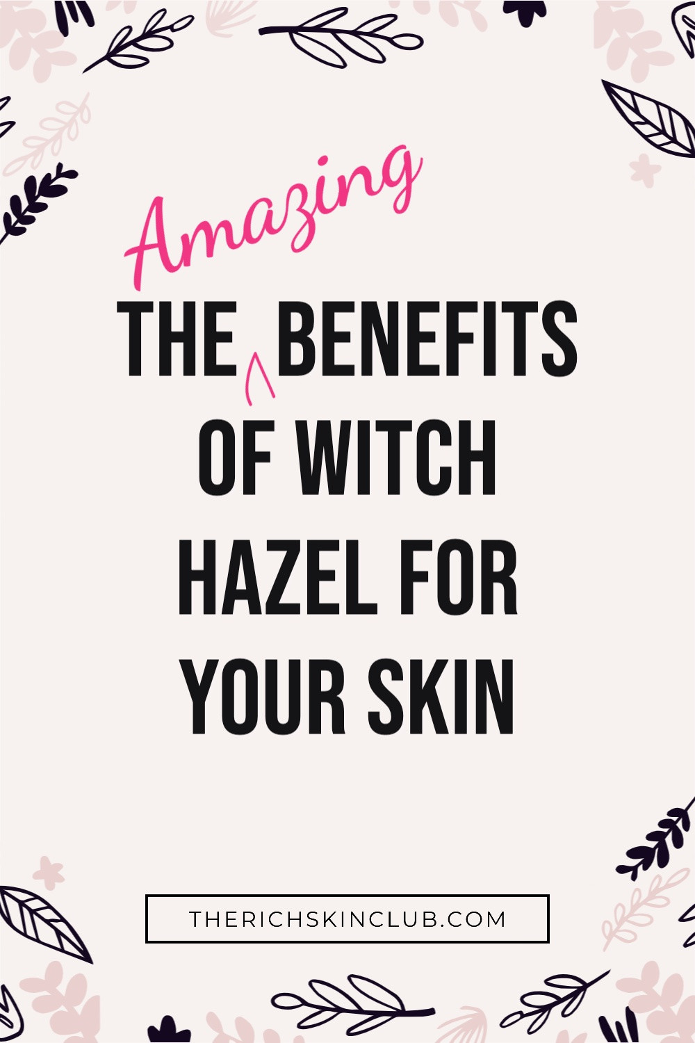 The benefits of Witch hazel add up to a trifecta of skin perks that tighten skin/refine pores, reduce inflammation, and treat acne. It's a natural astringent, meaning it has a skin tightening effect, that minimizing pores making them appear smaller. This is especially beneficial for oily and acne-prone skin types. #BenefitsOfWitchHazel  #ThayersWitchHazel  #RoseWaterToner #WitchHazelUsesSkinCare  #AlcoholFreeToner  #TheRichSkinClub  #CleanBeauty