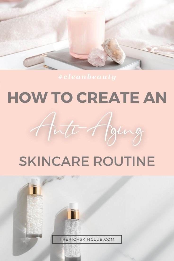 Get Pro Skincare Tips to create an anti-aging skincare routine that works! Not sure what order to apply your skincare products? Click the pin to learn which products to use in your morning routine, night time, and weekly facial treatment. Get the best skincare secrets to glowing skin results in weeks! #perfectskinroutine #skinglow #antiagingsecrets #antiagingskincareroutine #antiagingskincareproducts #morningskincareroutine #nightskincareroutine