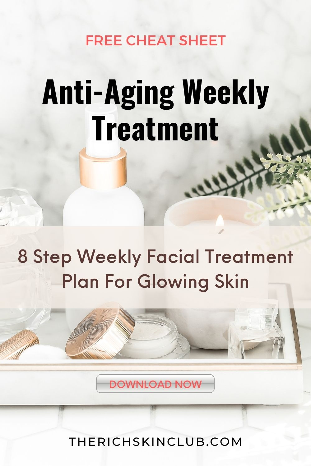 Treat Your Skin To A Professional At-Home Facial. A weekly facial is a MUST for your anti-aging skincare regime. Get my pro steps for a DIY facial that will deep steam clean your pores, and leaving your skin hydrated and glowing! Click the pin for an easy 8 step at-home facial that includes cleansers, toners, moisturisers, serums and face masks for every skin type. Download the free CHEAT SHEET so you don't miss a step!  #diyfacial #glowingskin #homefacial
