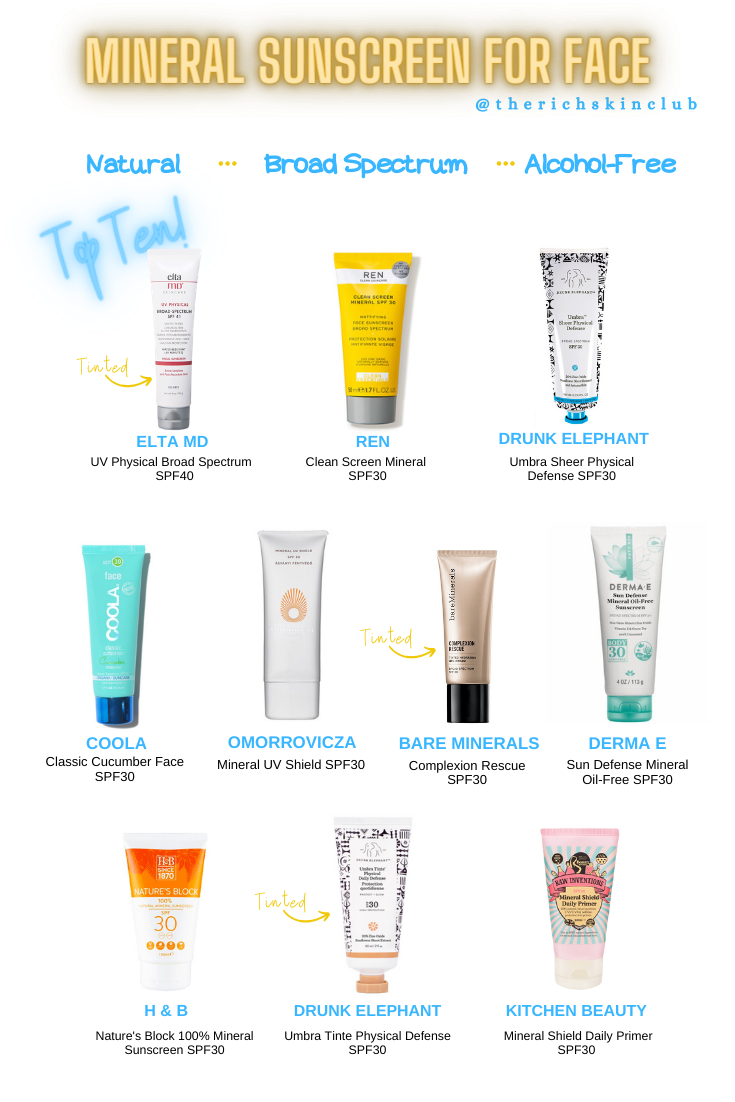 best mineral sunscreen for the face