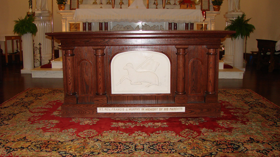Altar with Marble Insert