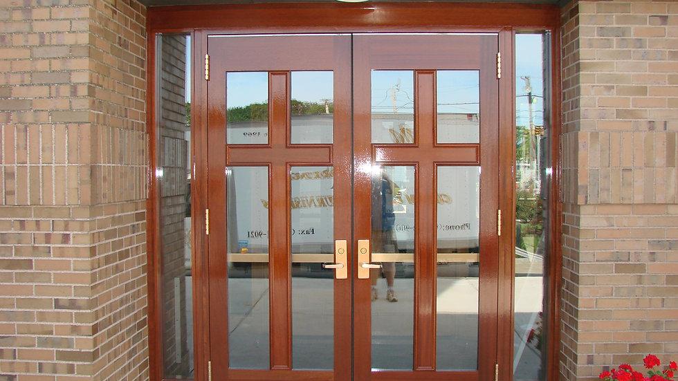 Glass Inlay Doors