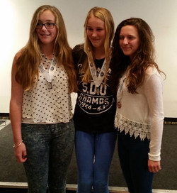 3 players from the 2014 U16 girls
