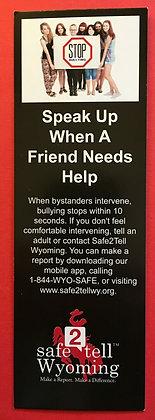 Speak up bookmark