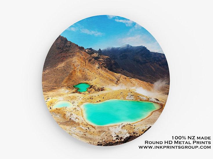Mt Ngauruhoe, NZ Large Round HD Metal Print. Landscape M0023