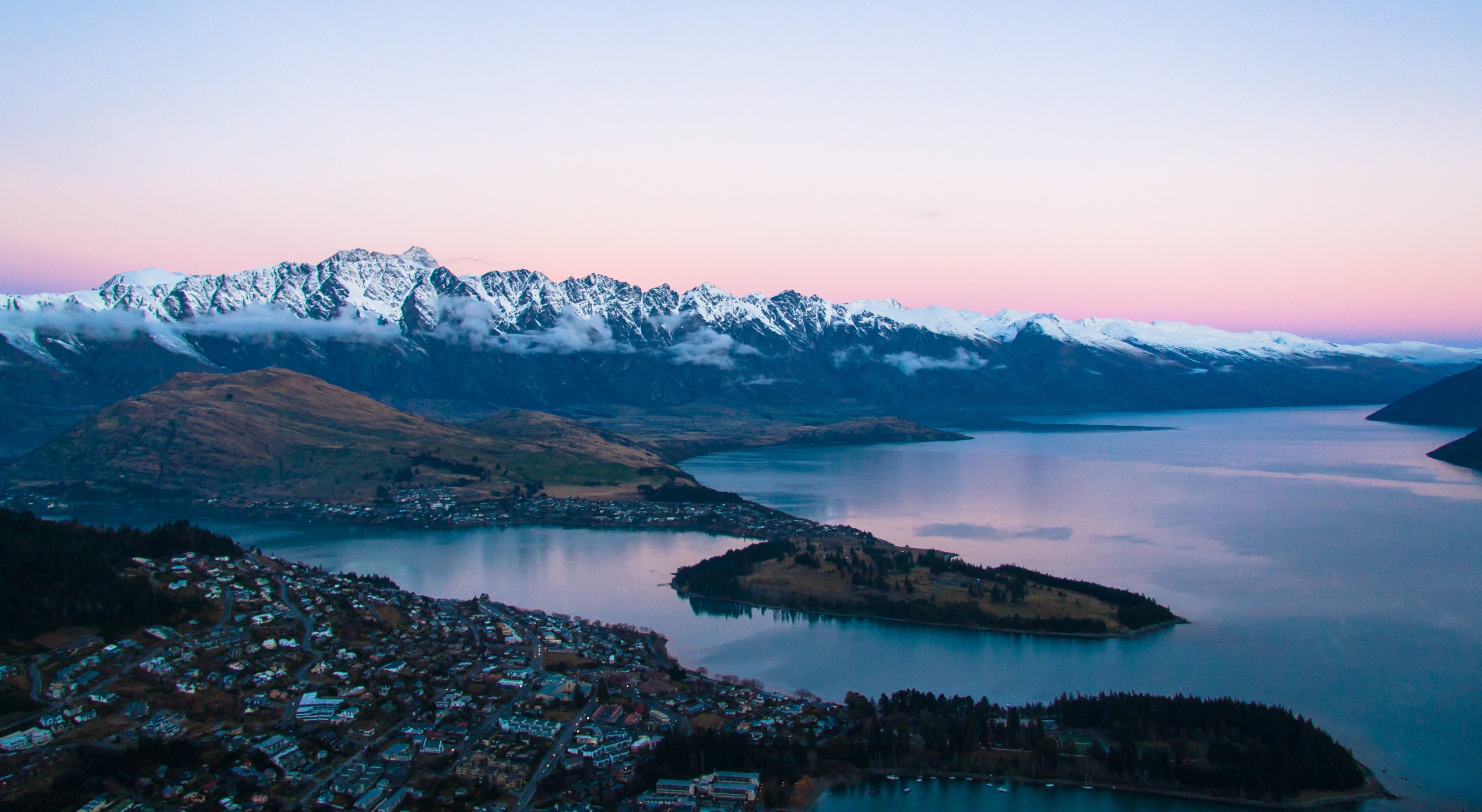 Pink Queenstown photo canvas prints