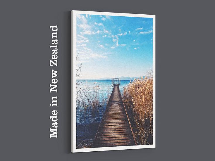Summar wharf photo canvas. nature landscape photo canvas