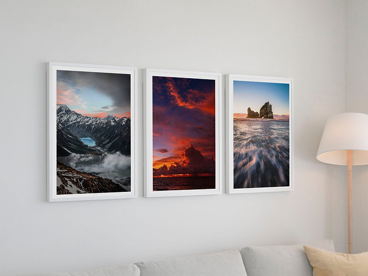 Set of three Poster Classic New Zealand Landscape Poster, P0002