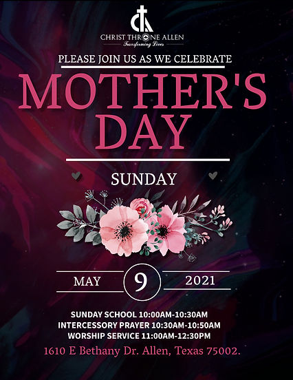 Copy of Mothers Day Sunday Event Flyer T