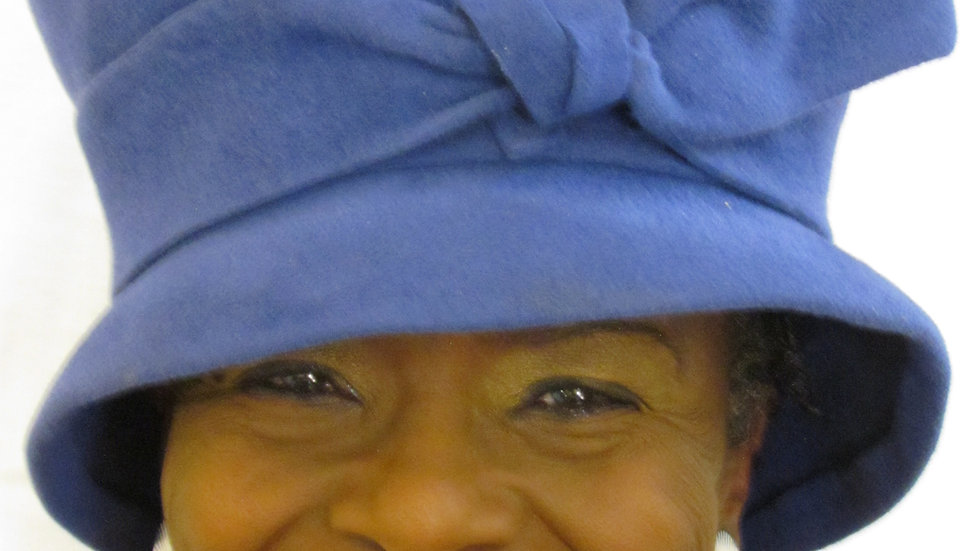 Royal Blue Women's Wool Felt Had