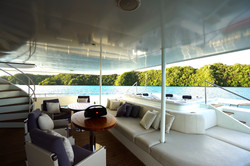 main deck aft with Jacuzzi