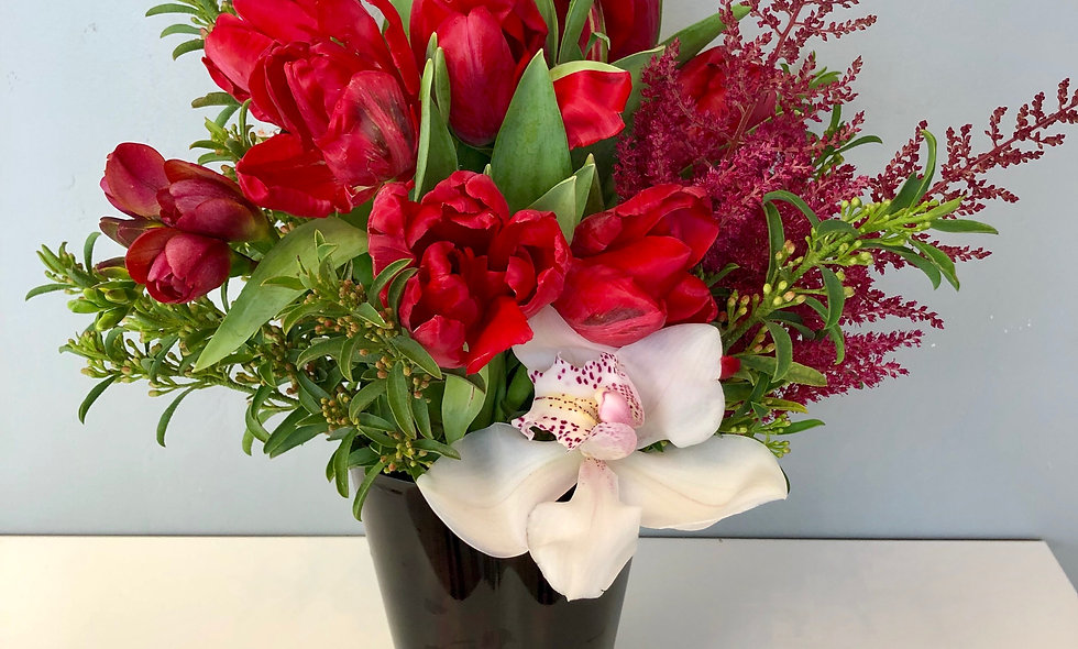 Romantic Red Tulips