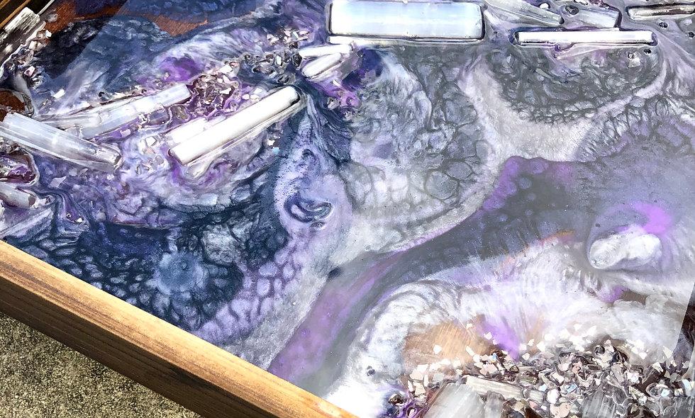 Silver resin tray