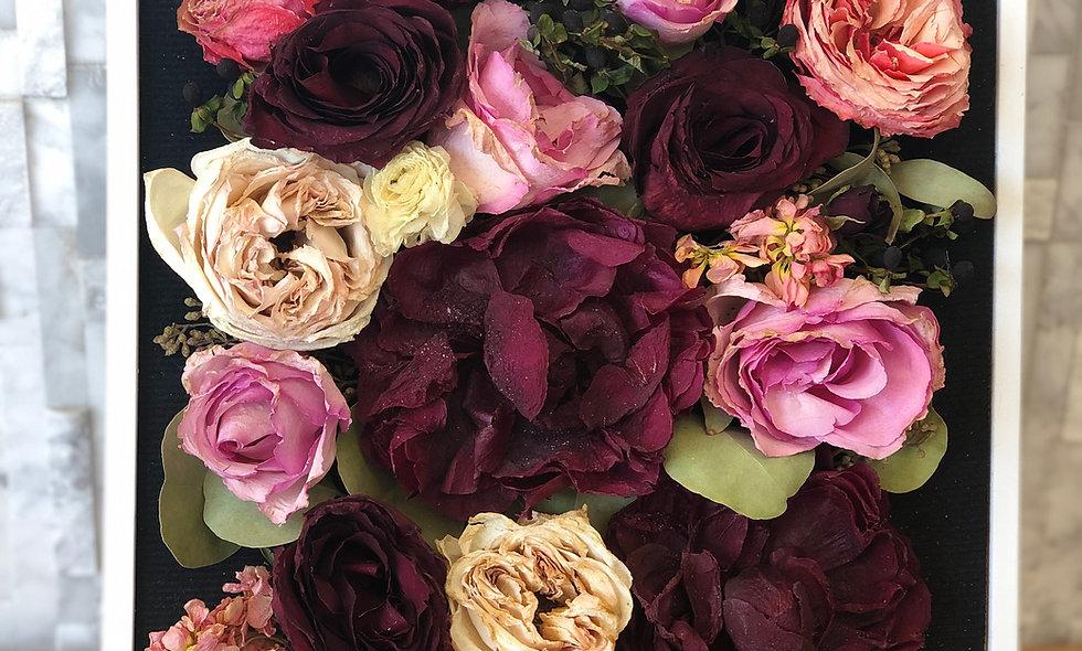 Medium Shadow box bouquet preservation