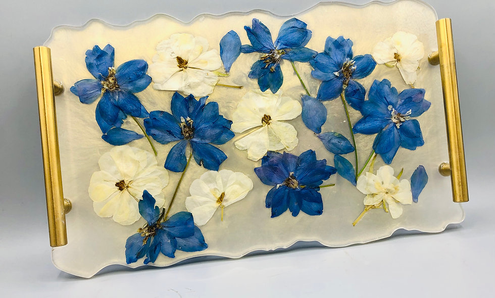 Resin serving tray