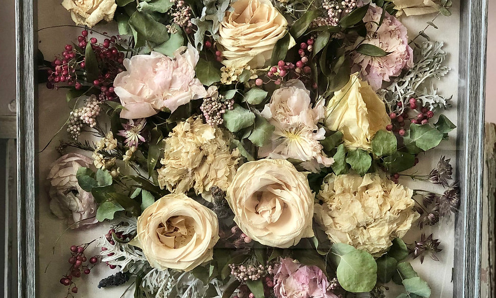 Extra Large Shadow Box Bouquet Preservation