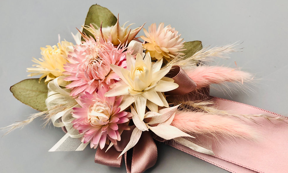 Dried Floral Wrist Corsage