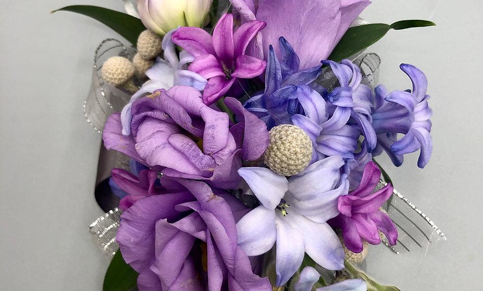Premium Lavender and Lilac Wrist Corsage