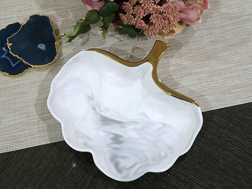 Ceramic Marble Trinket Tray Medium