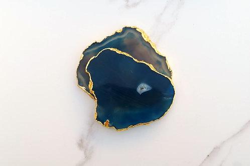 Blue Agate Coaster x4