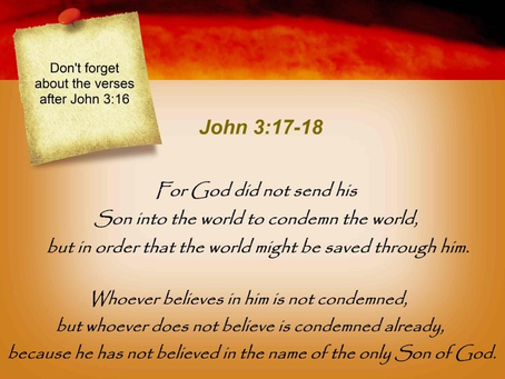 Jesus Did Not Come to Condemn Us For Sin