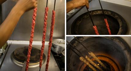 Cocinando-en-horno-Tandoor-en-el-Restaur