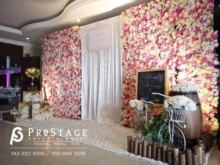Flower Theme Photobooth + Professional Live Band + Emcee + Sound System + Lighting System + Event Co