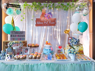 Full Moon Party Decoration + Customise Bubble Balloon + Theme Dessert