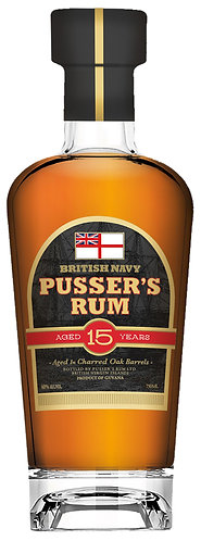 Pussers 15 Year Old Rum 700ml 40%