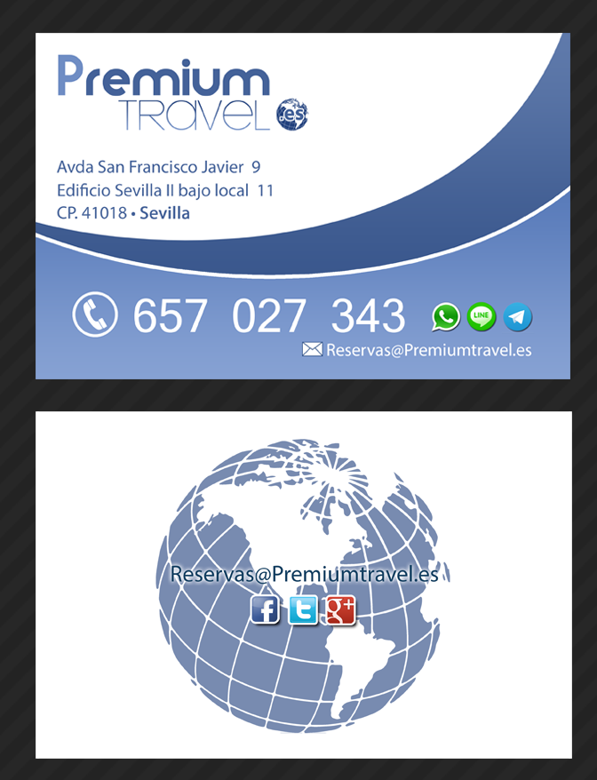 Tarjeta de visita Premium Travel