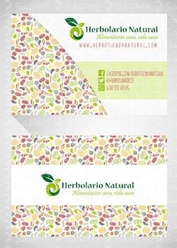 tarjeta de visita Herbolario