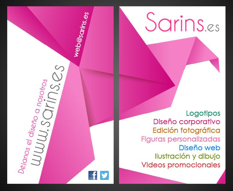 tarjeta de visita nueva sarins